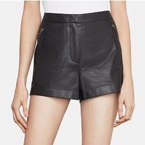 BCBGMAXAZRIA Yazzy Faux Leather Shorts 10 NWT